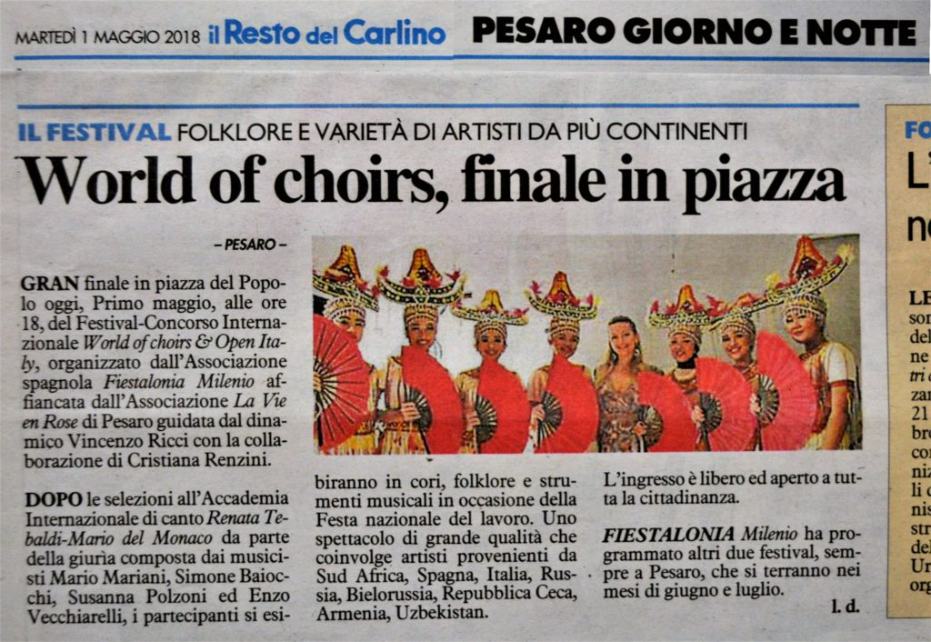 fiestalonia milenio giuria jury giudice Susanna Polzoni international festivall world of choirs